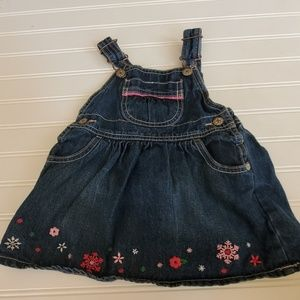 Oshkosh Girls Jean Dress Overalls